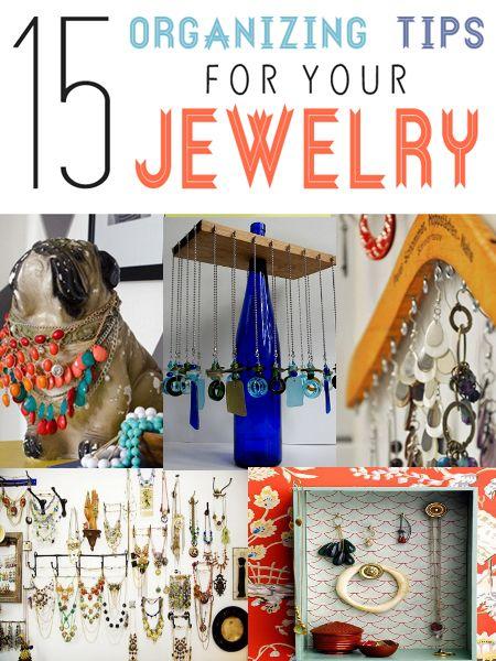 15 Top Ideas to Organize Jewelry | Myhealthytricks.com