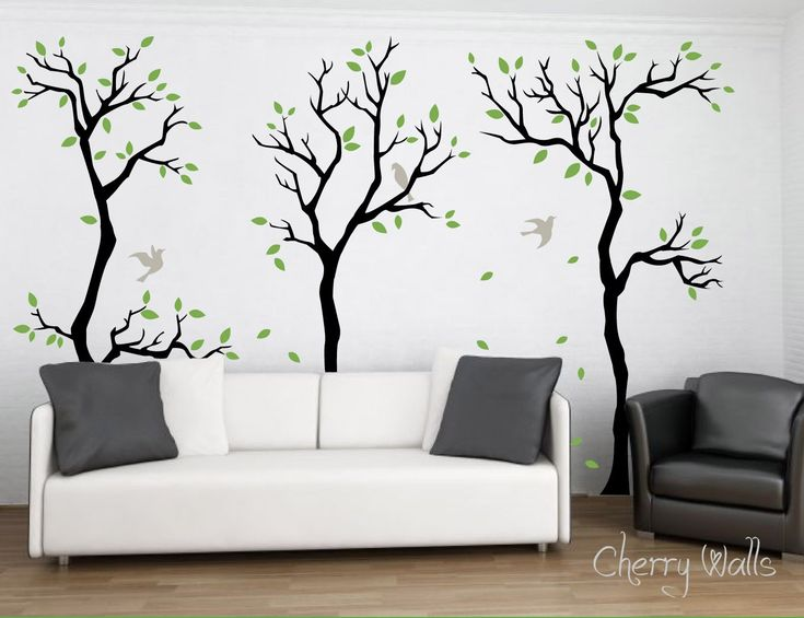 Superbe Forest Wall Decal Wall Decor Removable Matte Vinyl