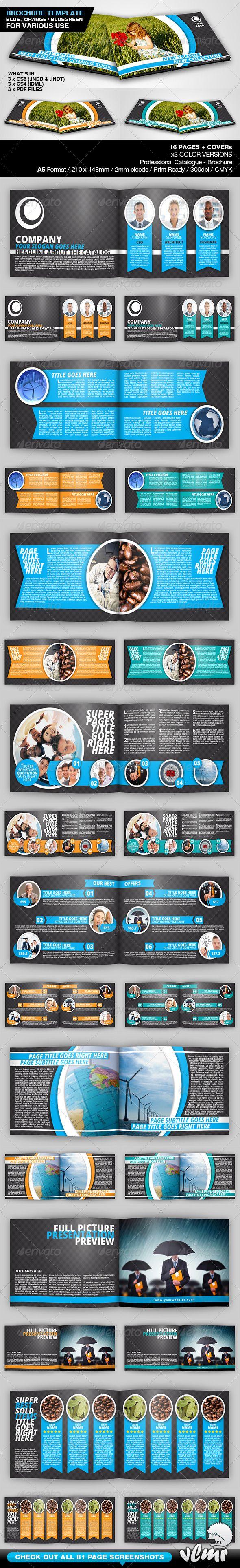 Universal A5 Brochure / Catalog Template