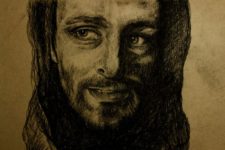 Underworld film. Coal portrait of lycan Lucian.  actor Michael Sheen. Портрет углем ликана Люциана. Фильм другой мир. by teslimovka on Etsy