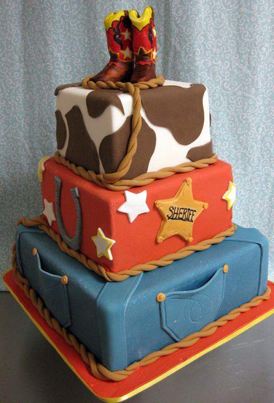 Cowboy Cake - like the sheriff and horseshoe layer