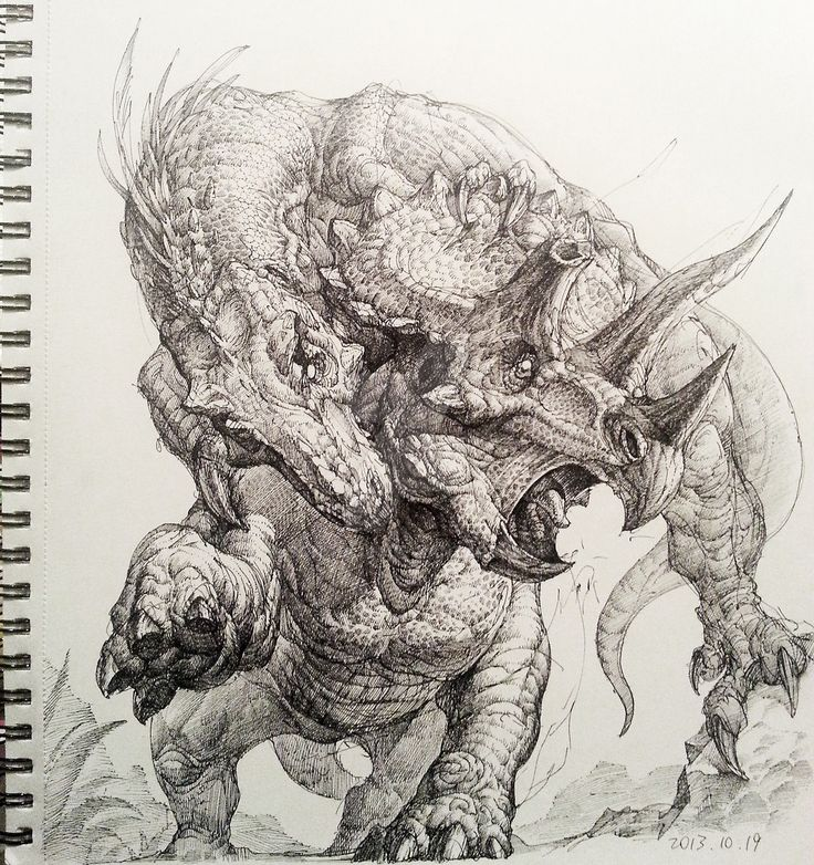 Tyrannosaurus Rex Triceratops Hunt by songqijin
