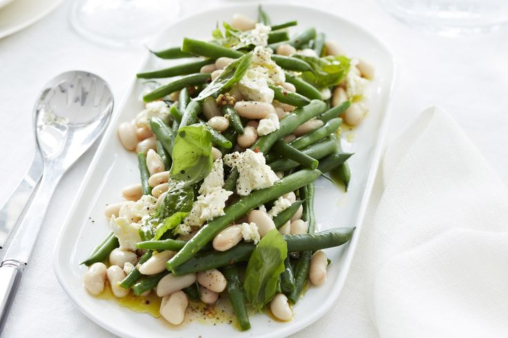 A simple yet sophisticated Bean, Basil & Feta Salad is the perfect compliment to any dinner, particularly barbecued lamb or beef.