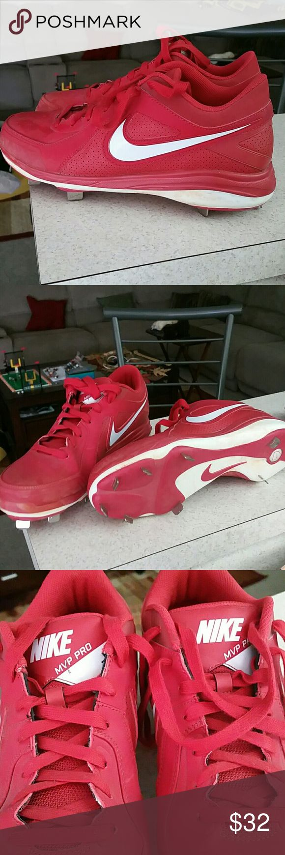 Nike MVP pro metal baseball cleats Nike Red Nike MVP Pro metal baseball cleats Nike Shoes