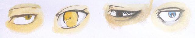 cara mewarnai mata manga dengan watercolor | MAYAGAMI