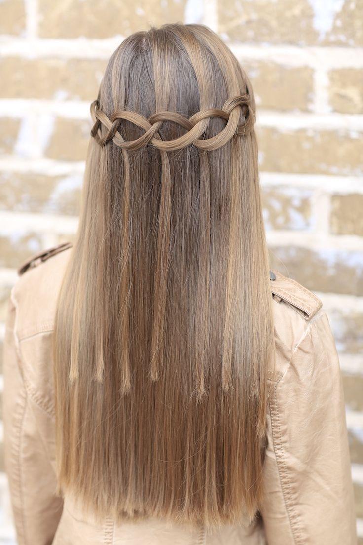 Loop Waterfall Braid #hairstyles #hairstyle #waterfallbraid #briad #cutegirlshairstyles