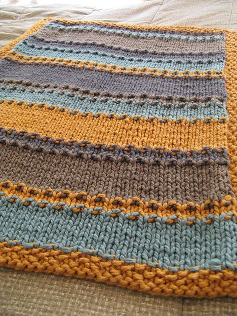 Free Knitting Patterns For Striped Baby Blankets : groovy little baby blanket pattern. All I do are striped blankets lately as q...