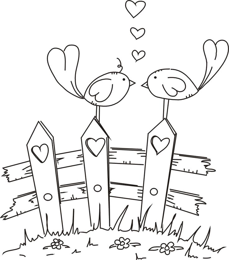 coloring pages love birds - photo#35