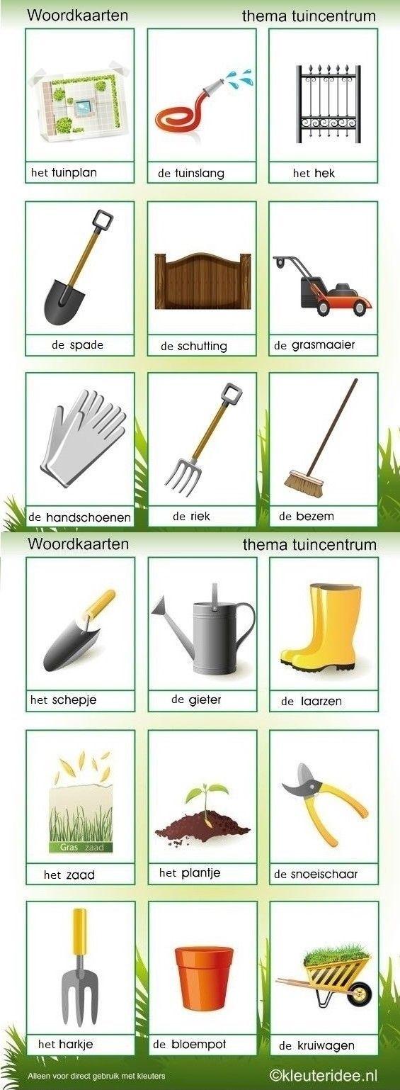 Woordkaarten : tuinieren