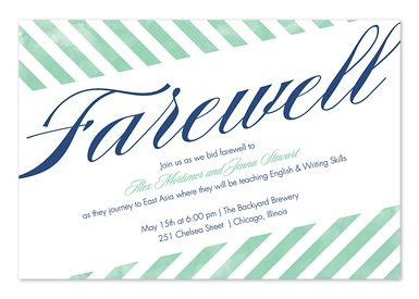 Best Farewell Party Images On   Invitation Cards