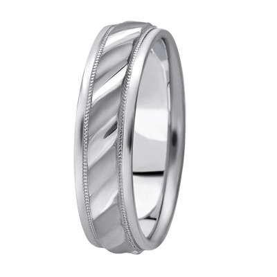 New Diamond Cut Cable Pattern Wedding Band