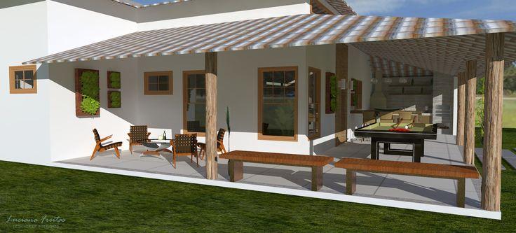 Fachada simples com varanda