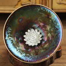 2016 New Arrival New >10 Gaiwan Tea Pot Silver Cup Fambe Tianmu Built With Whitebait Kung Fu Tea Single Ceramic Masters Lotus(China (Mainland))