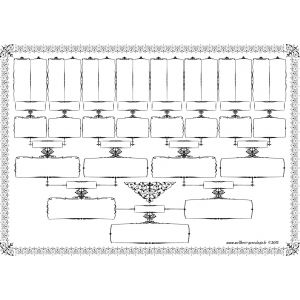 Free - Family tree template 5 generations printable empty to fill in oneself
