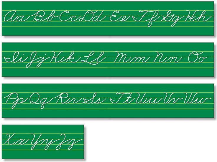 Alphabet Lines - Traditional Cursive