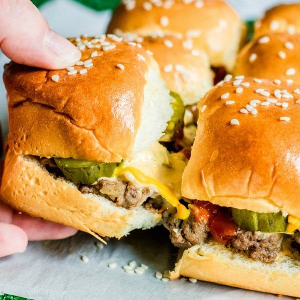 Copycat Big Mac Sliders are an easy appetizer recipe filled with beef, cheese, and McDonald's Big Mac sauce! These Copycat Big Mac Sliders are the perfect football party food idea for your next game day party!