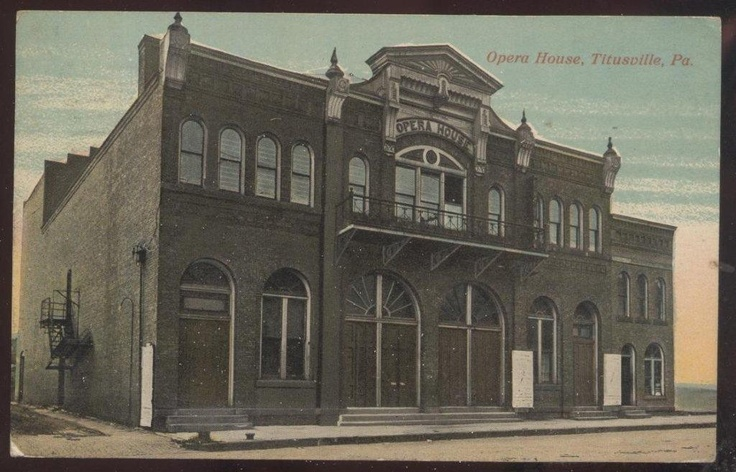 Postcard TITUSVILLE Pennsylvania/PA Opera House Theatre