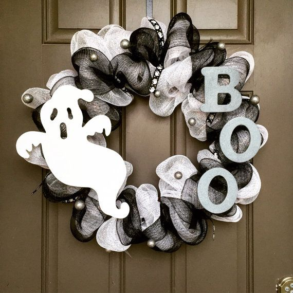 Halloween ghost wreath                                                       …