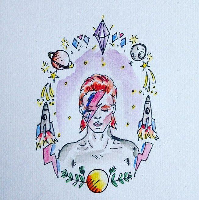 David Bowie Tattoos | POPSUGAR Beauty UK Photo 8