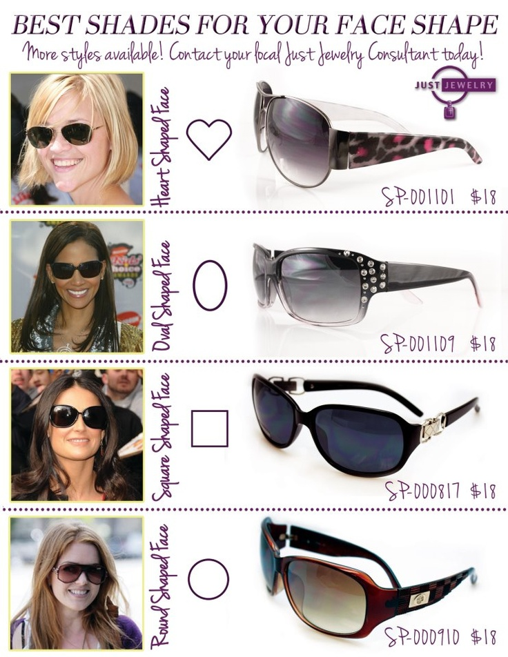 Sunglasses For Face Shape Guide : 17 Best images about SUNGLASSES on Pinterest Cara ...