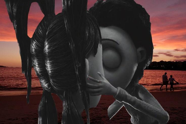 Victor Frankenstein Kisses Elsa Van Helsing by sunsets in ...