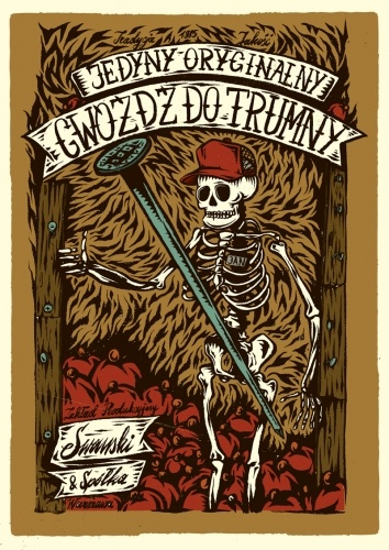"""Self promo for POLARBEARS.PL agency - 200 limited edition itemes. subject: """"coffins art posters"""" artist : SWANSKI"""