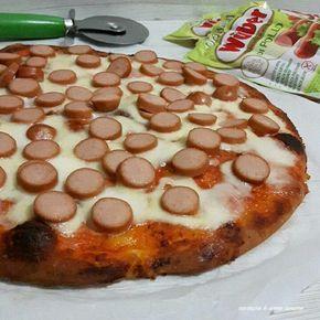 Pizza in teglia con wurstel | Cucinare è come amare