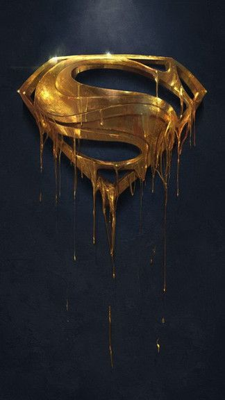 Gold Superman Logo iPhone 5C / 5S wallpaper