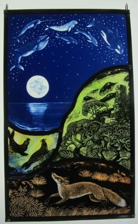Swimming Through Stars by Tamsin Abbott Stained glass: