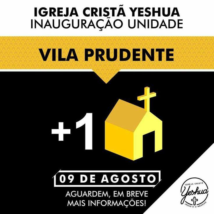 Mais um lugar para encontro com Deus...agora na Vila Prudente!  Maiores informações em breve!