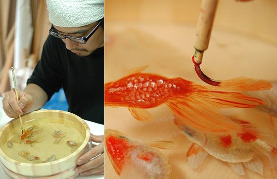 The Painted Breath: 3D Painting of Layered Resin Goldfish by Riusuke Fukahori – DesignSwan.com