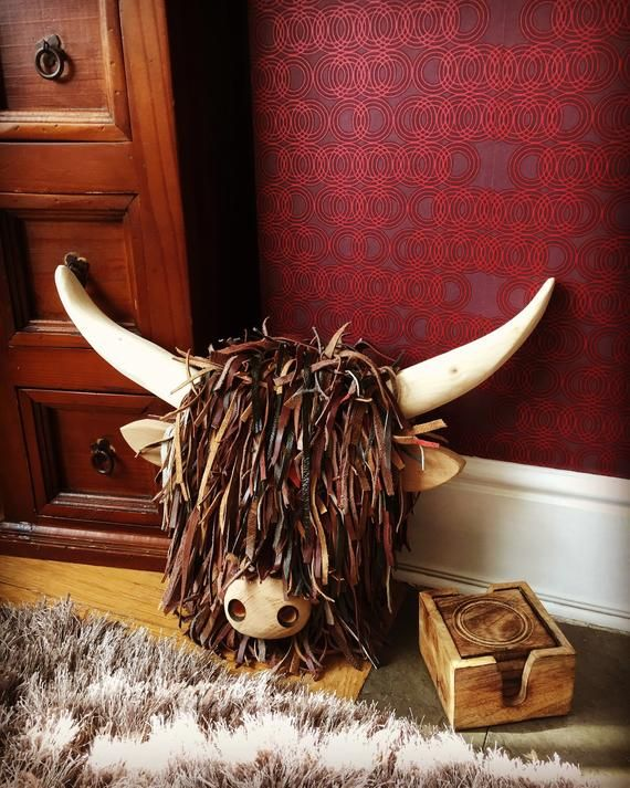 Quality Handmade Unique Wall Mounted Highland Cattle Cow Faux Etsy In 2020 Highland Cow Cow Cow Head