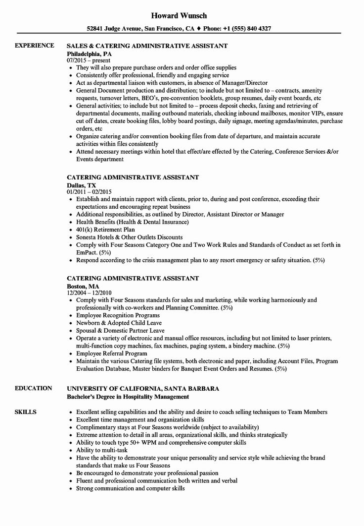Kitchen Manager Job Description Resume New Catering