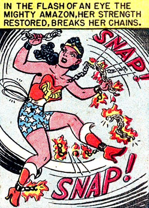 Wonder Woman #28 (1948) script by William Moulton Marston, art by H.G. Peter.