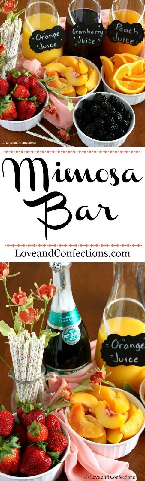 Mimosa Bar from LoveandConfections.com #BrunchWeek #sponsored