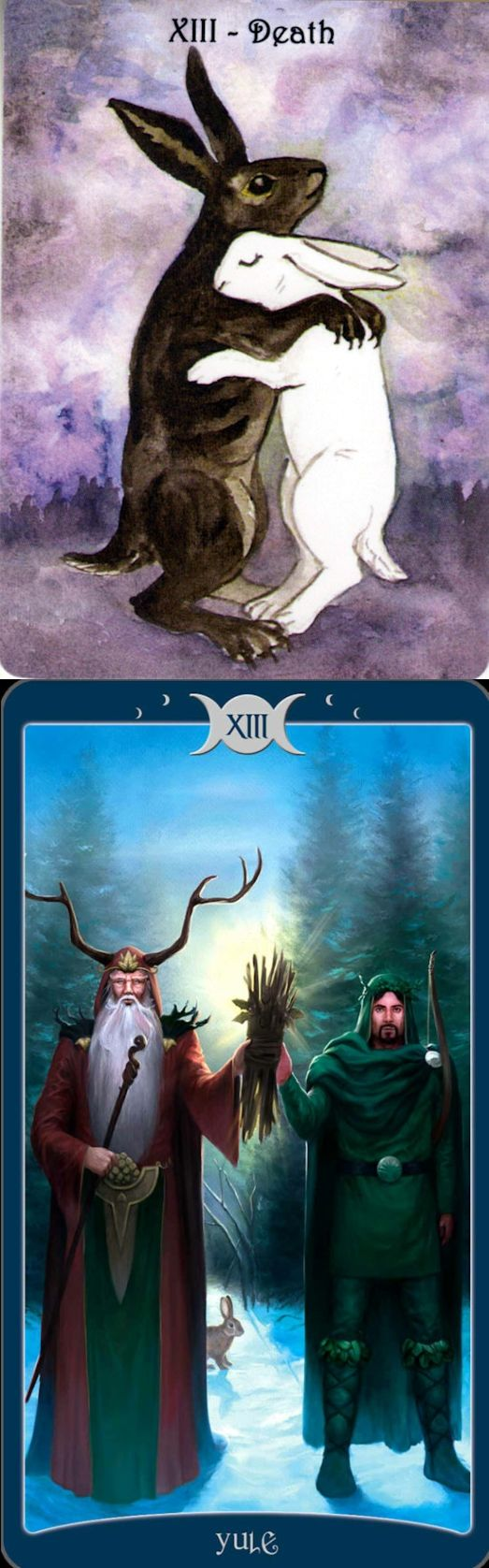 DEATH: end and stagnation (reverse). Rabbit Tarot deck and Book Of Shadows Tarot deck: best free psychic readings online, free online love tarot and tarot robocat. The best magic the gathering artwork and psychic reading sign.