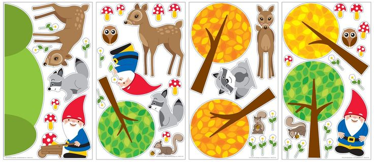 Amazon.com: Woodland Gnome Removable Wall Decals: Toys & Games
