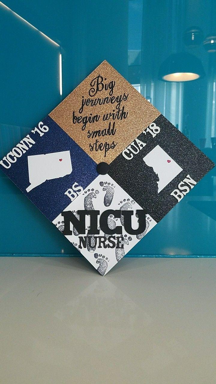 Second Degree Bsn Nursing Cap For Nicu Nurse Nicu Nicunurse Gradcap Decorat Nurse Graduation Cap Graduation Cap Toppers Respiratory Therapy Graduation Cap