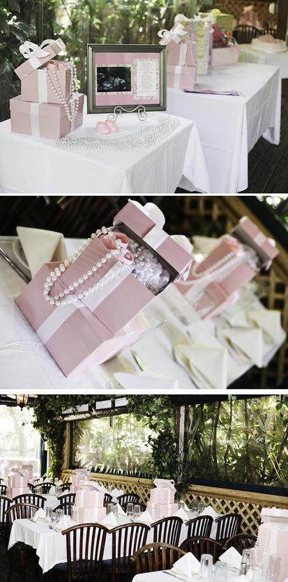 A Pink Princess Baby Shower with Pearls and Lace - I LOVE THIS THEME! So fancy and super cute...my style :)