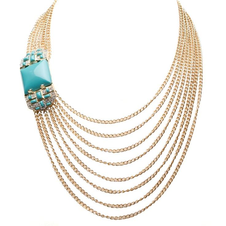 Pure OpulencePuree Opulent, Fashion, Style, Opulent Necklaces, Beautiful Turquoise, Dramatic Necklaces, Shoedazzle Com, Accessorizing, Gilded Necklaces