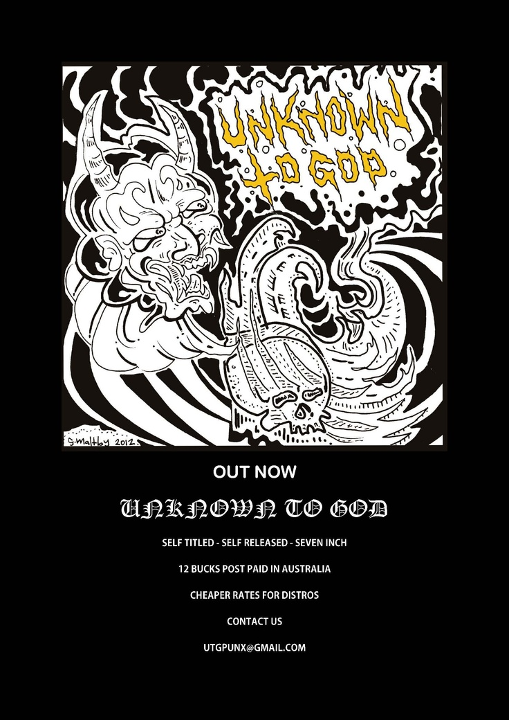 unknown to god poster