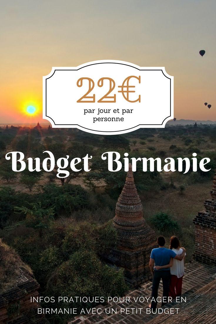 Budget voyage en Birmanie: 22€ par jour et par personne. On vous donne tous nos chiffres de notre voyage afin de vous aider à planifier au mieux votre séjour au Myanmar. Itinéraire, carte de Birmanie, budget et premières impressions de ce pays hors du commun.