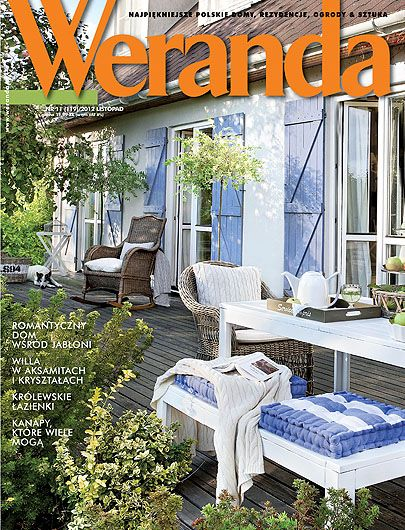 Okładka magazynu Weranda 11/2012 www.weranda.pl