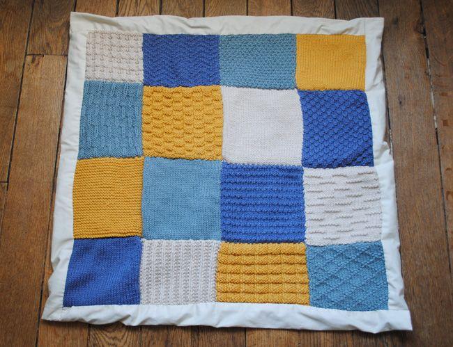La couverture Patchwork en tricot