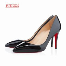 WZYCHDS Top Quality  Women Shoes Red Bottom High Heels Sexy Pointed Toe Red Sole Wedding Shoes Chaussure Escarpins Semelle 9cm //Price: $US $33.07 & FREE Shipping //    Warranty And Guarantee:  1. 100% of all delivered products in good quality and under strict examination before shipping. We will try our best to avoid any quality problem  2. if you are not satisfied when you receive your item, please return it within 15 days for a replacement or money back. Please contact our before you…