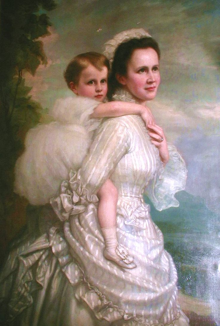 A tender portrait of Queen Elizabeth of Romania and her late daughter, Pss Maria.