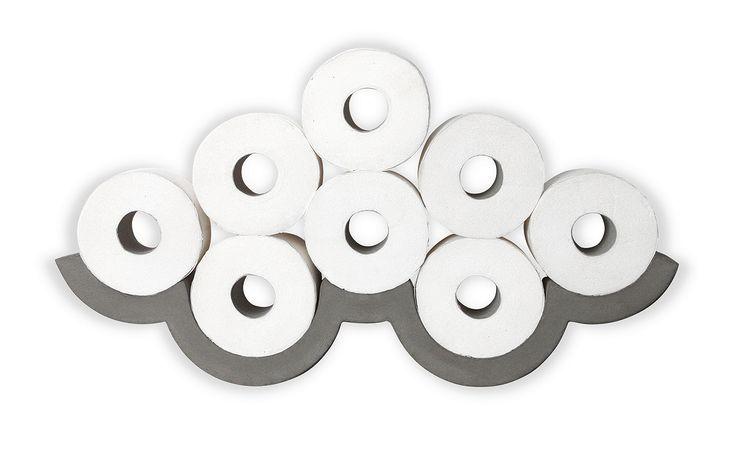Cloud Concrete Toilet Paper Storage