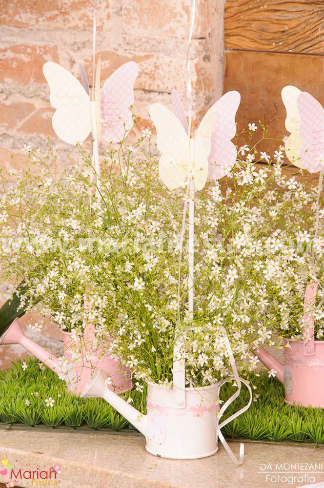 Jardim das borboletas, itens personalizados by Mariah festas.