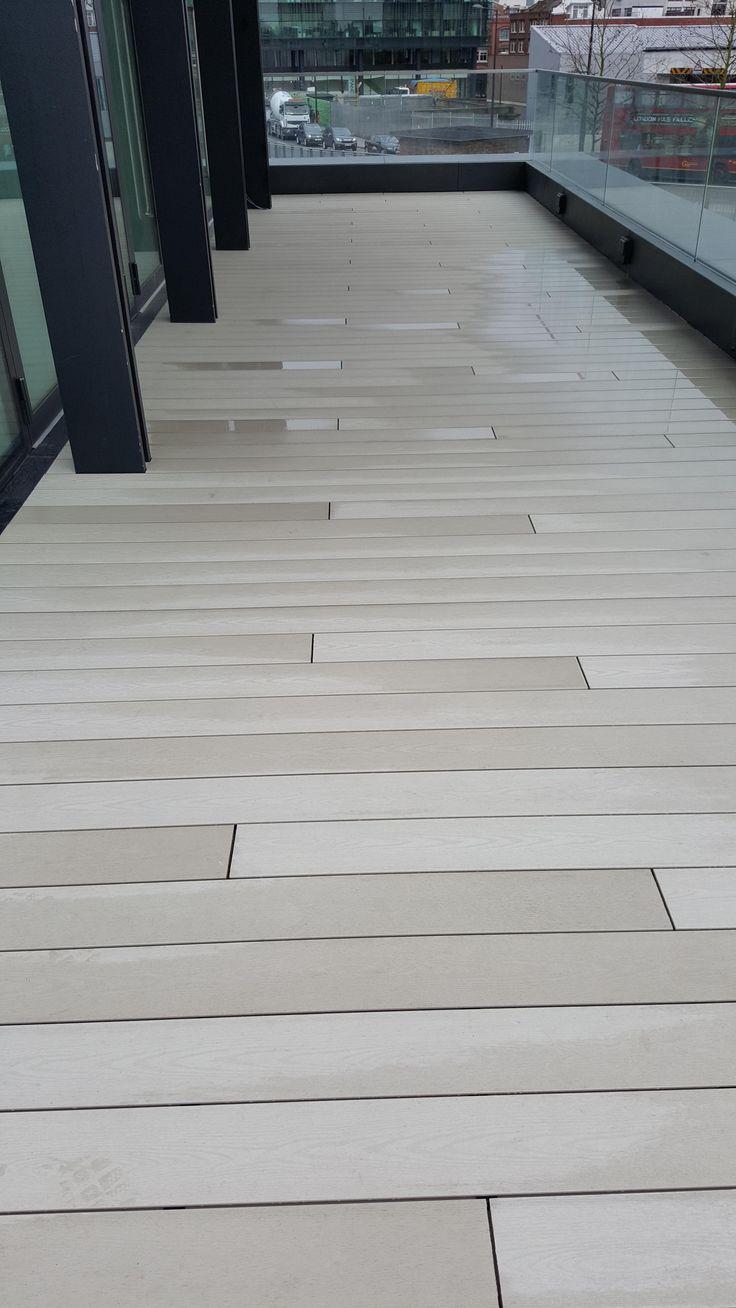 12 best composite decking images on pinterest composite decking hyperion pioneer white ash balcony design baanklon Gallery