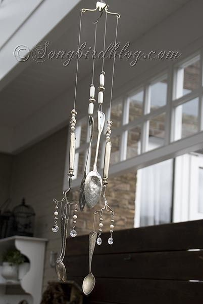 How to make a wind chime out of vintage silverware wind for How to make a windchime out of silverware